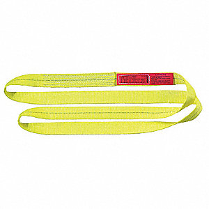3 ft. Heavy-Duty Polyester Endless Web Sling with 6400 lb. Vertical Hitch Capacity, Yellow