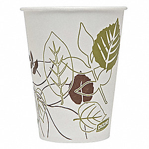 9 oz. Paper Disposable Cold Cup, White, 2400 PK
