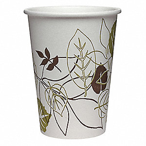 Disposable Cold Cup,12 oz.,White,PK2400