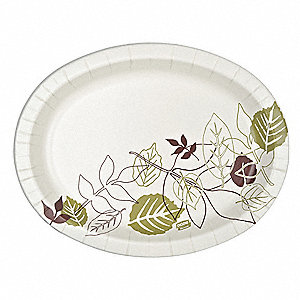 "8-5/8 x 11"" Oval Paper Platter, Pathways Design&#x3b; PK500"
