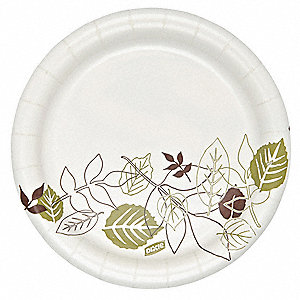 "6-7/8"" Round Paper Plate, Pathways Design&#x3b; PK500"
