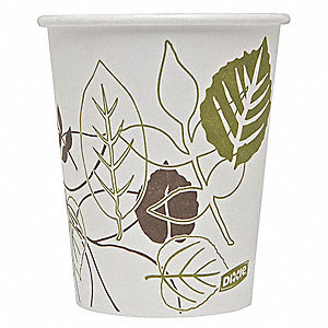 10 oz. Disposable Hot Cup, Polyethylene Paper, White, PK 1000