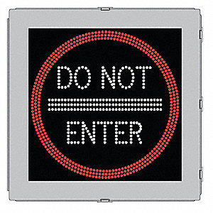 Do Not Enter LED Traffic Sign, Red/White LED Color, Power Requirements: 120V