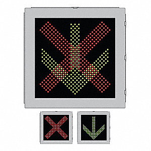 LED Sign,X/Arrow,Green or Red/Black