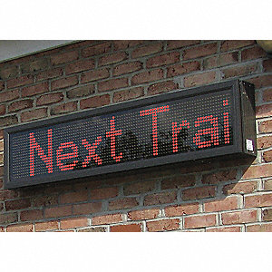 LED Message Display,1-Mod,13 x 31 in,Red