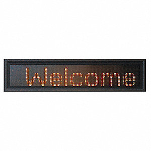 LED Message Display,3-Mod,13x85 In,Amber