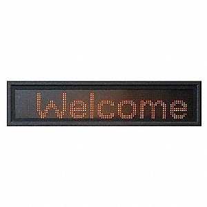 LED Message Display,3-Mod,13 x 85 In,Red