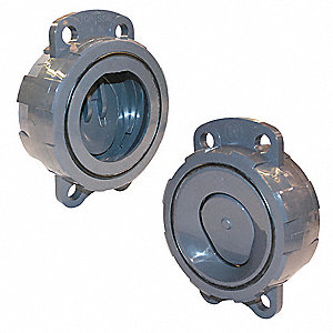 Wafer Check Valve,CPVC,2-1/2 In.