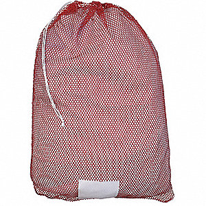 Grainger Roved Heavy Weight Polyester Drawstring Mesh Laundry Bag 36 L X 24 W Red 38va03 Gp245157