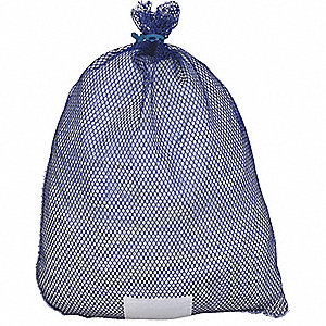 "Medium Weight Polyester, Rubber Closure Mesh Laundry Bag, 36"" L X 24"" W, Blue"