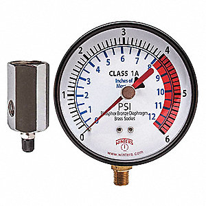 Low Pressure Test Kit,0 to 6 psi