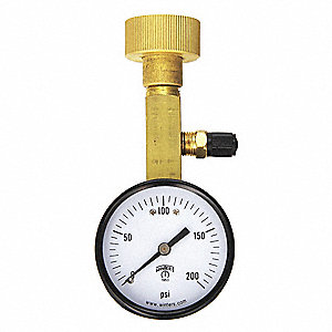 Air Over Water Test Gauge Kt,0 to 200psi