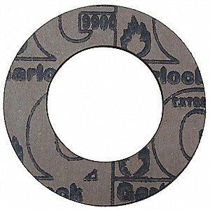 "Graphite with Nitrile Binder Flange Gasket, 4-1/8"" Outside Dia., Mahogany"
