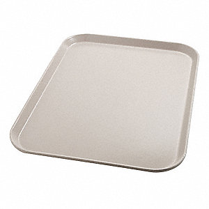 Tray,Flat,18in.L x 14in.W,Latte,PK12