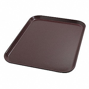 Tray,Flat,20in.L x 15in.W,Cranberry,PK12