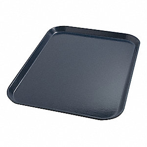 Tray,Flat,18in.L x 14in.W,Dark Blue,PK12