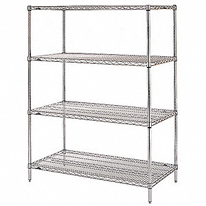 starter wire shelving unit 60w x 18d x 74h - Wire Shelving Units