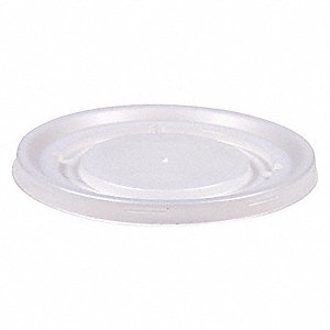 5, 8 fl. oz. Plastic Sip Through Hot Cup Lid, Translucent, 1500 PK
