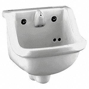 Penal Bathroom Sink,Vitreous China,White