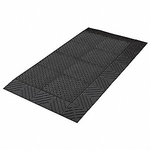 "Antifatigue Mat, PVC Sponge, 3 ft. x 2 ft. 6"", 1 EA"