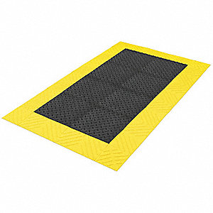 Antifatigue Mat, PVC Sponge, 3 ft. x 3 ft., 1 EA