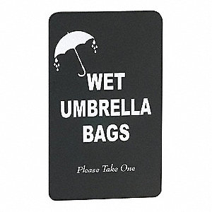 Wet Umbrella Bag Sign