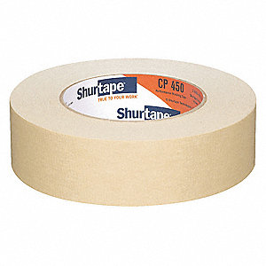 Masking Tape, 55m x 36mm, Natural, 6.90 mil, Package Quantity 24