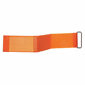 "Hook-and-Loop-Type Cam Arm Strap with No Adhesive, Orange, 2"" x 3 ft., 10PK"