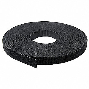 "Hook-and-Loop-Type Back-to-Back Strap with No Adhesive, Black, 1/2"" x 75 ft., 1EA"