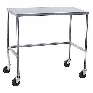 Mobile Instrument Table,SS,58x24x34