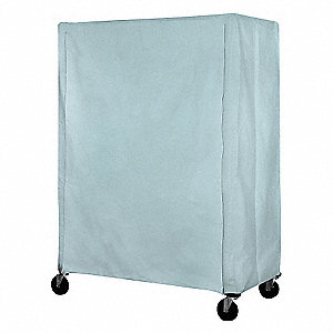 Cart Cover,24x24x54,Blue,Nylon