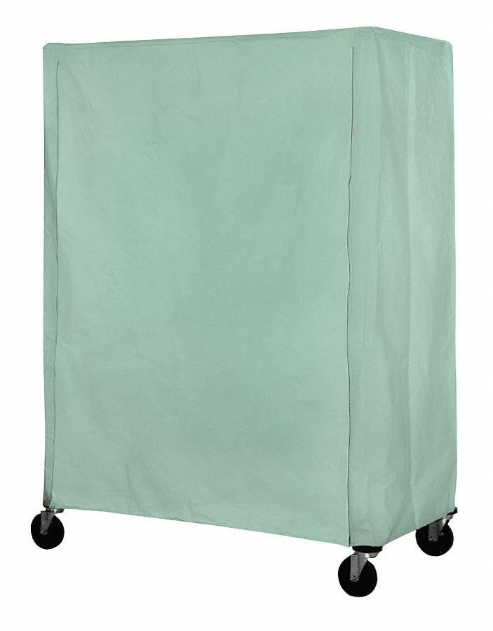 Hook-&-Loop Mildew-Resistant Coated Nylon Cover for Wire Shelf & Utility Carts,  Coated Nylon