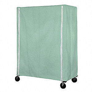 Light Green Cart Cover, Zipper Closure, Coated Nylon