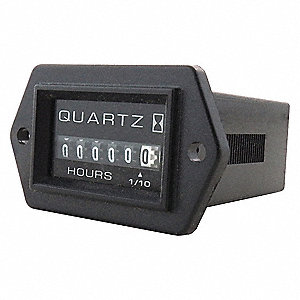 Hour Meter, 120 to 240VAC Operating Voltage, Number of Digits: 6, Rectangular Bezel Face Shape
