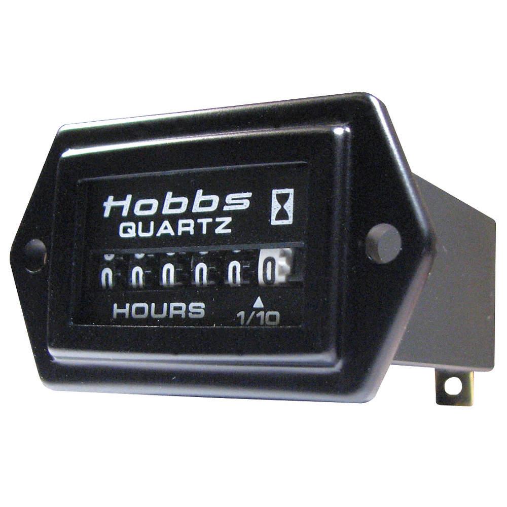 Hour Meter, 10 to 80VDC Operating Voltage, Number of Digits: 8, Rectangular  Bezel Face Shape