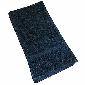 "27"" x 16"" 100% Cotton Hand Towel, Black&#x3b; PK12"