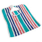 TERRY BIB,18 X 34IN,COTTON,STRIPE,PK12