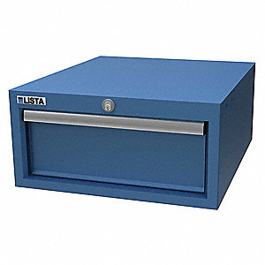 Hanging Cabinet ,One Drawer, Brt Blue