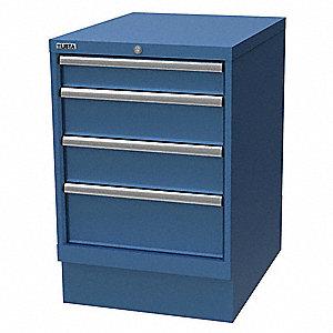 lista cabinet pedestal,(4)drawer,brt blue - 38x782 xsmp0600-0402bb