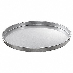 "Round Cake/Pizza Pan, 16"" dia. x 1"" D Aluminized Steel, Shiny Gray"