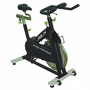 "Indoor Training Bike with Chain Drive Transmission Drive System and 300 lb. Max. Weight, 97"" x 21"" x"