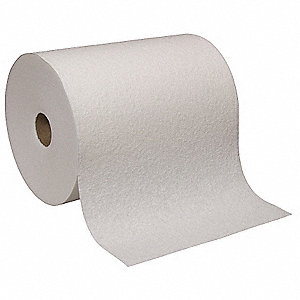 goRag® DRC (Double Re-Creped) Disposable Wipes, Continuous Roll Ct. Various Sheets, White