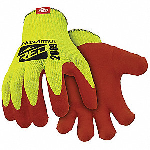 Nitrile Cut Resistant Gloves, ANSI/ISEA Cut Level 4 Lining, Red, Yellow, S, PR 1