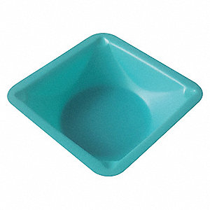 Weighing Dish,Blue,1in.D,PK500