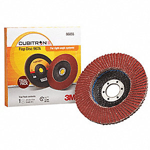 "4-1/2"" Flap Disc, Type 27, 7/8"" Mounting Hole, Coarse, 40 Grit Ceramic, 1 EA"
