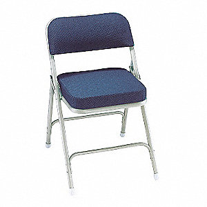 Folding Chair,Fabric,32in H,Gray,PK2