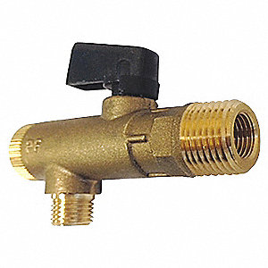 "1/4"" and 1/2"" Flare 1/2"" NPT x 2-1/4"" Brass Filter Ball Valve"
