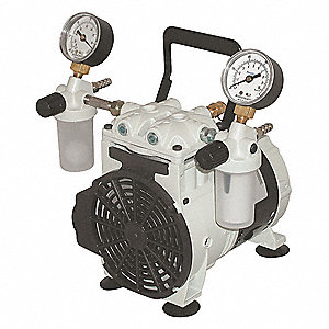 1/4 HP Piston Vacuum Pump, 115VAC, 100 Max. PSI Cont./Int.