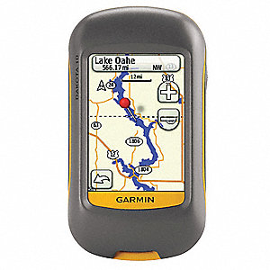 "2.2"" x 1.3"" x 3.9"" GPS, Gray/Orange"