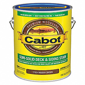 Semi-Solid Flat Exterior Stain for Wood, Mission Brown, 1 gal.